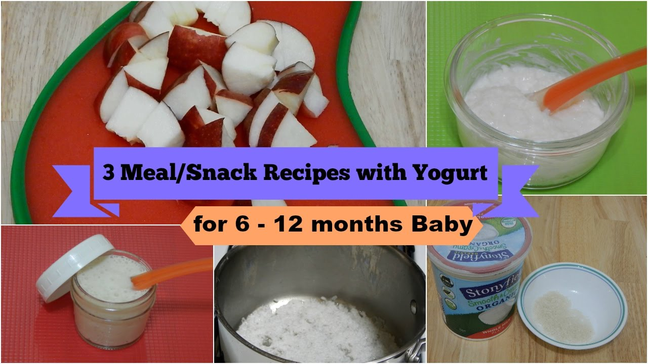 3 easy healthy meal snack ideas recipes with yogurt for 6 12