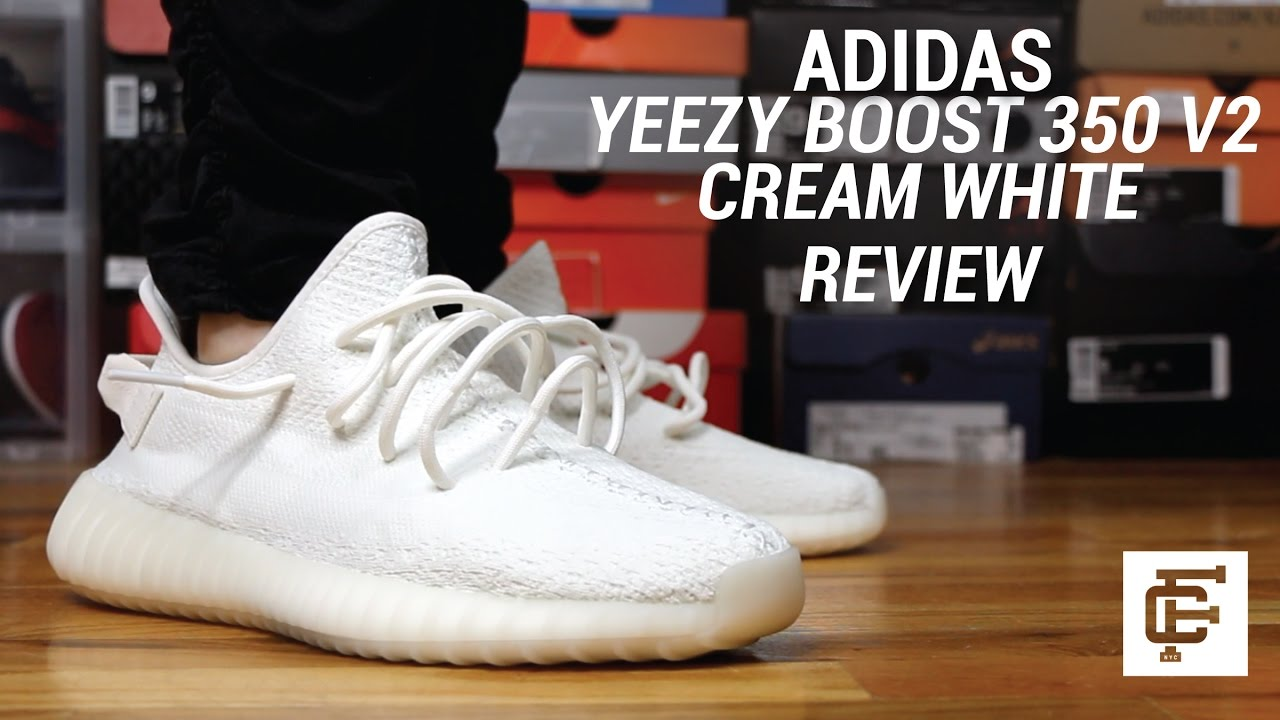 77ded6a83 ADIDAS YEEZY BOOST 350 V2 CREAM REVIEW - YouTube