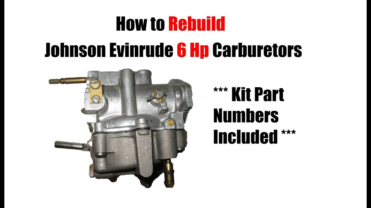6 Hp Johnson Evinrude Carburetor Rebuild - READ COMMENTS