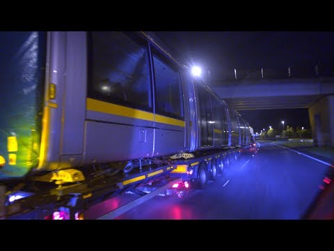 Luas Cross City  - Tram Delivery 13th November 2017
