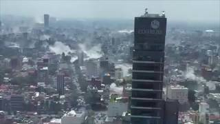Building Collapse On Camera - Mexico City - 7.1 Magnitude Earthquake