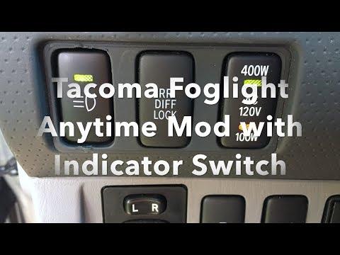 Tacoma Foglight Anytime Mod With OEM Indicator Switch