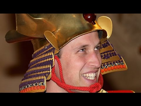 Prince William wears tradtional warrior costume in Tokyo