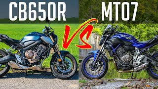 Honda CB650R vs Yamaha MT07 | Which should you buy?