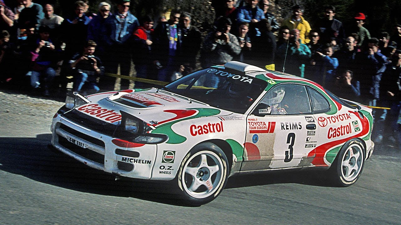 Toyota Celica Turbo 4WD ST185 tarmac action with pure engine sounds (WRC  Rallye Catalunya 1993)