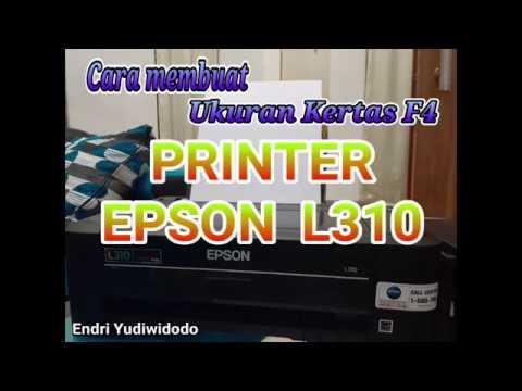 Cara membuat ukuran F4 pada printer epson L3110..