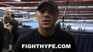 TEOFIMO LOPEZ REVEALS CONVO WITH MIKEY GARCIA ABOUT GETTING HIS TITLES; EXPLAINS PATH TO 2019 SHOT