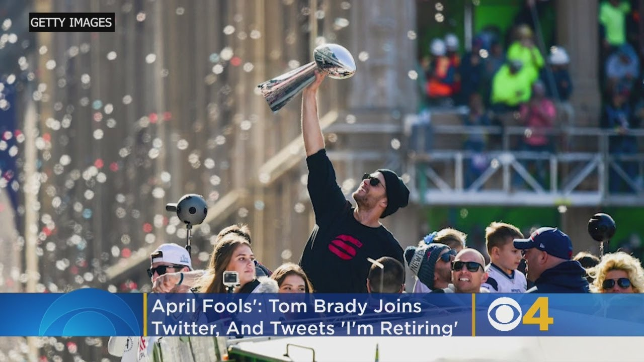 Tom Brady joins Twitter, 'retires' on April Fools' Day