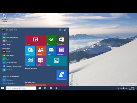 Modo de tableta en Windows 10