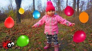 Baloane cu Surprize in Padure   Cautam Balonasele si le spargem   Invatam Culorile