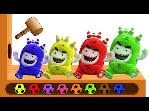 Thumbnail: Learn Colors for Kids Oddbods With Hammer Xylophone Finger Family Nursery Rhymes for Toddlers