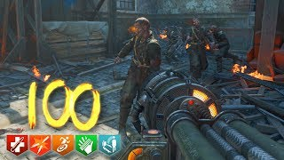 'KINO DER TOTEN' REMASTERED ROUND 100 SPEEDRUN ATTEMPT! (Black Ops 3 Zombie DLC 5)