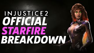 Injustice 2 Gameplay: Official Starfire Moveset and Breakdown