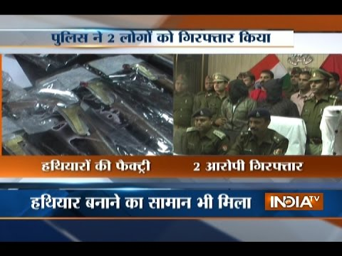 UP: Police Busts illegal Weapons Factory in Meerut, Two Arrested