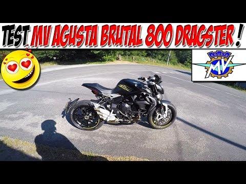 #Moto Vlog 90 : TEST MV AGUSTA BRUTAL 800 DRAGSTER / NE CLIQUE PAS ! 👿😱