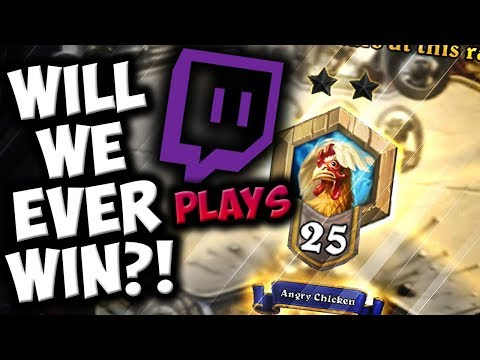 Twitch Chat Plays HEARTHSTONE | Will we EVER WIN? | The Witchwood | Disguised Toast