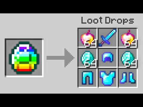 Minecraft UHC but you can craft a lucky diamond charm...