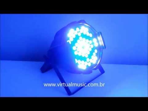 Canhao Refletor Par 64 72 Leds 3w Rgbw - Www.virtualmusic.com.br