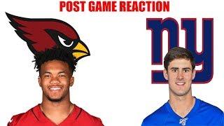Arizona Cardinals vs New York Giants Post Game Recap. Giants drop to 2-5