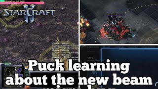 Daily Starcraft Highlights: Puck learning about the new beam micro bug