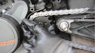 KTM Duke RC chain sprocket change DIY | INDIA