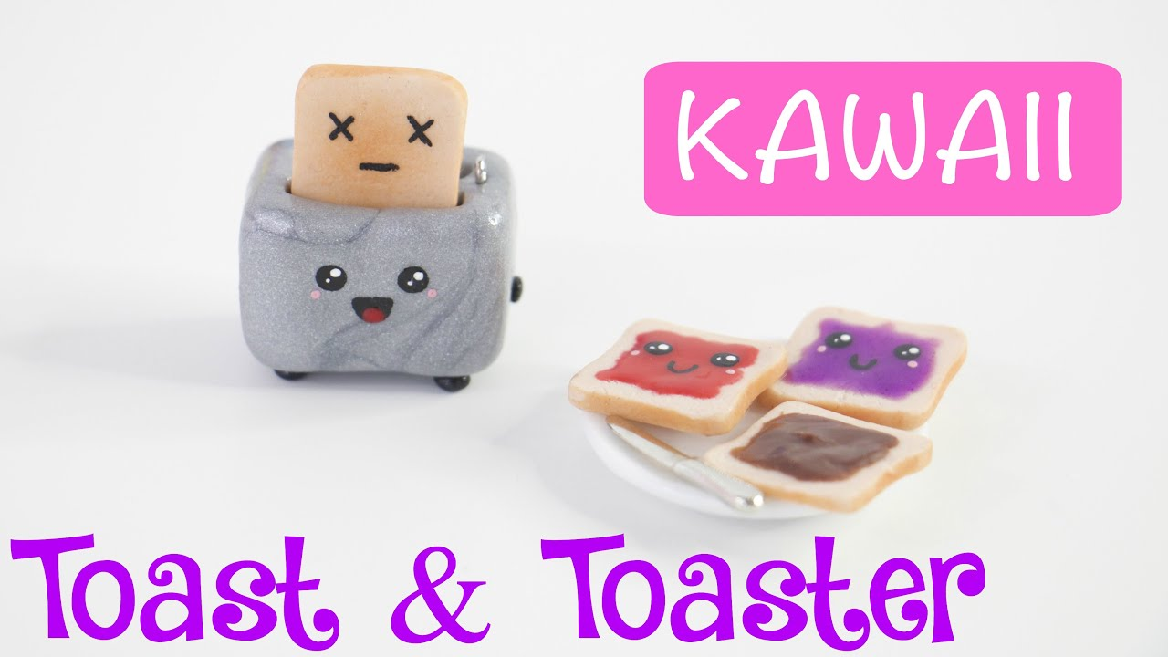 Diy Cute Miniature Toast Amp Toaster Charm Keychain Youtube