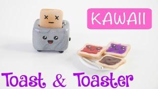 DIY CUTE Miniature Toast & Toaster Charm/Keychain