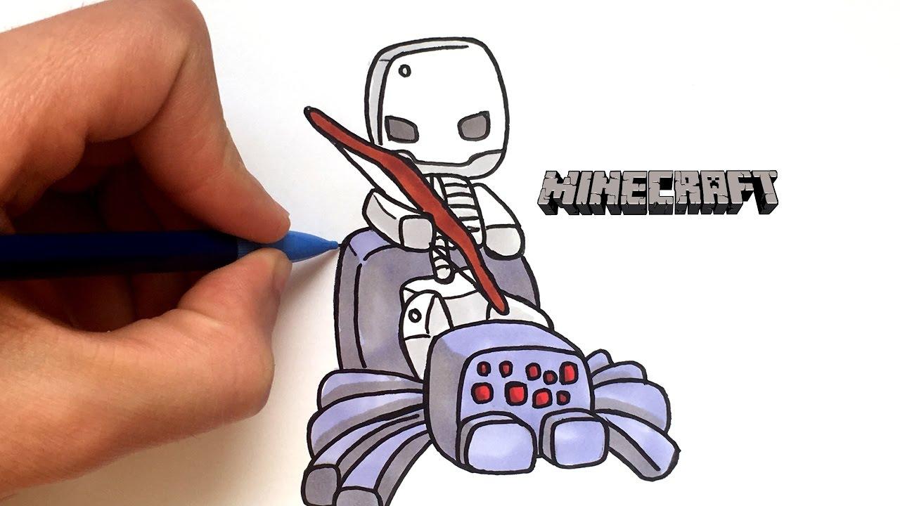 Draw Skeleton Spider Minecraft