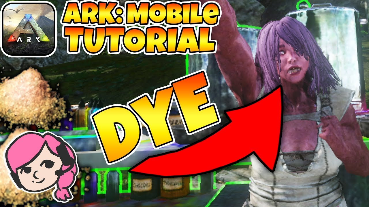 HOW TO DYE PLAYERS AND DINOS IN ARK: MOBILE! | ARK: Mobile Tutorial