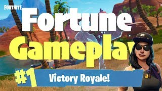 FORTUNE SKIN GAME PLAY VICTORY ROYALE (Fortntie Battle Royale)