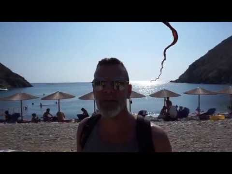 Sifnos - Cosmote chair on Vroulidia beach / Greece Travel Vlog #16 / The Way We Saw It