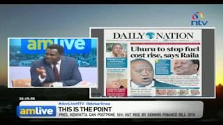 Eyes on Uhuru Kenyatta as politicians urge him to reject 16% VAT hike on fuel