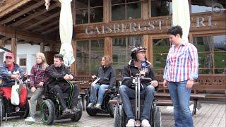 Rollstuhl extrem Kitzbühel Gaisbergstüberl Alm