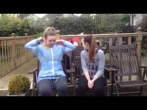 Hannah and Emma ice bucket challange