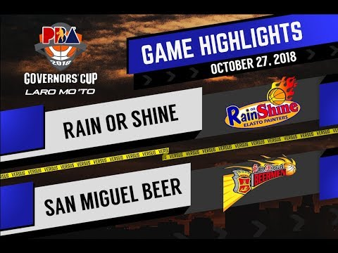 PBA Governors' Cup 2018 Highlights: Rain or Shine vs San Miguel Oct 27, 2018