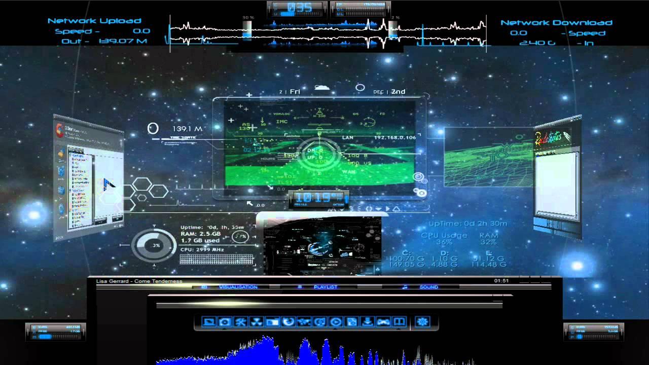 Radio Wallpaper Hd Space Jockey Dreamscene Rainmeter Hd Youtube