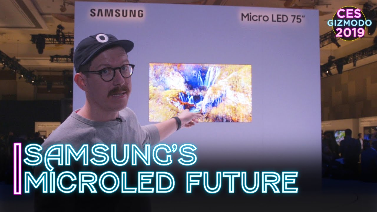 First Look At Samsung's MicroLED TV Future | CES 2019