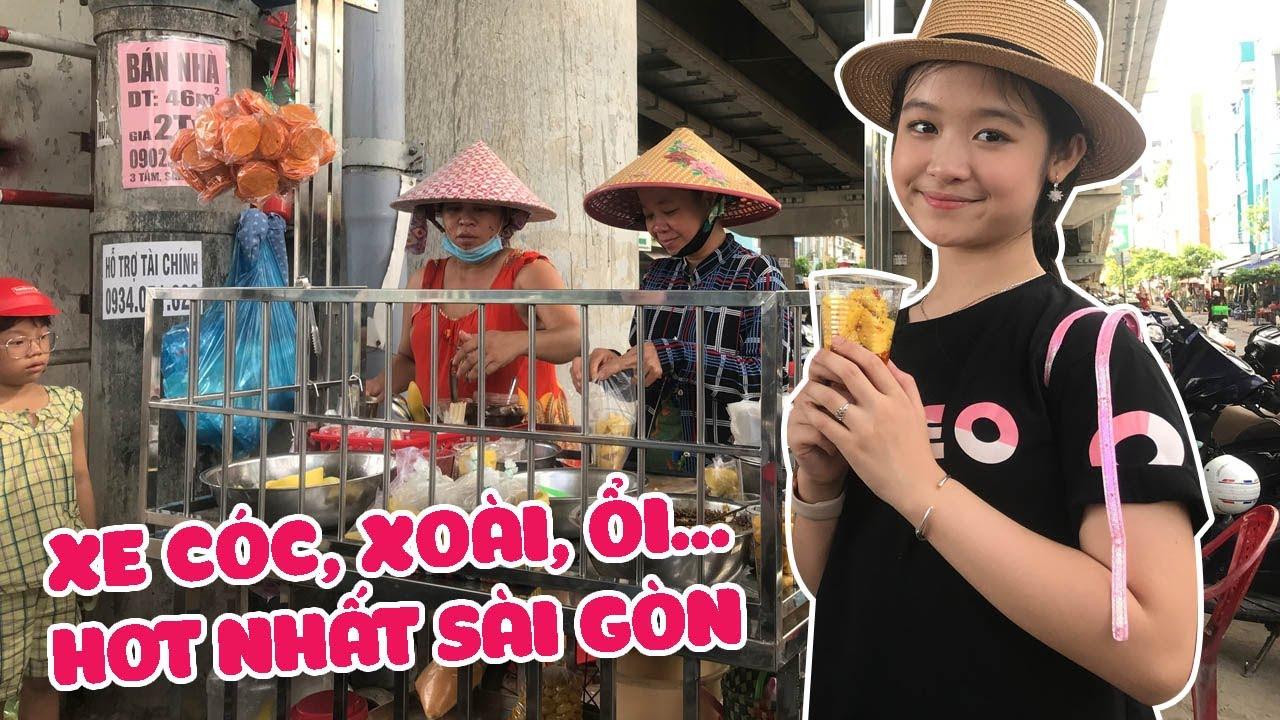 Bảo Ngọc truy lùng xe cóc, xoài, ổi luộc,... hot nhất Sài Gòn