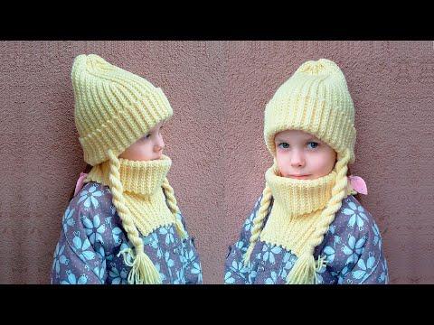 Серая шапка крючком для девочки