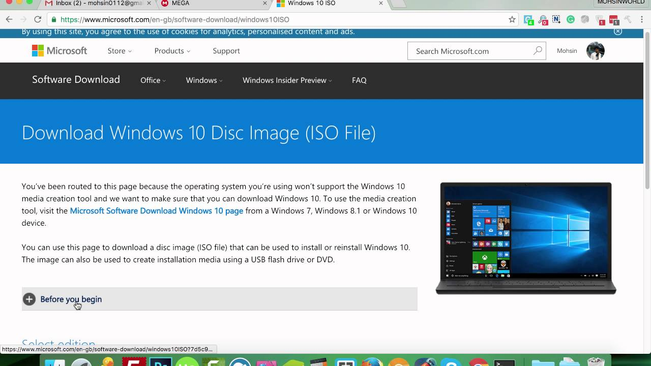 How to Download Windows 10 IOS File From Mac