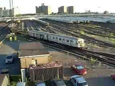 Mta R40 Subway Garbage Train Youtube