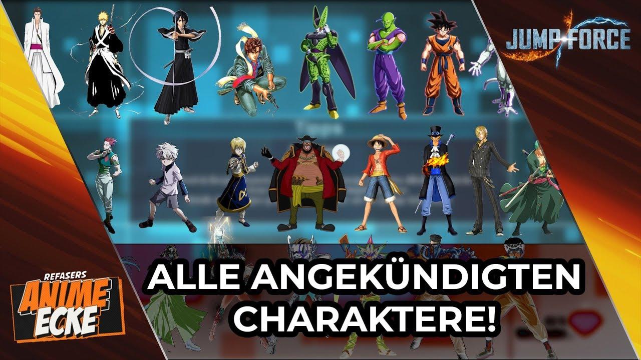 Jump Force Alle Charaktere