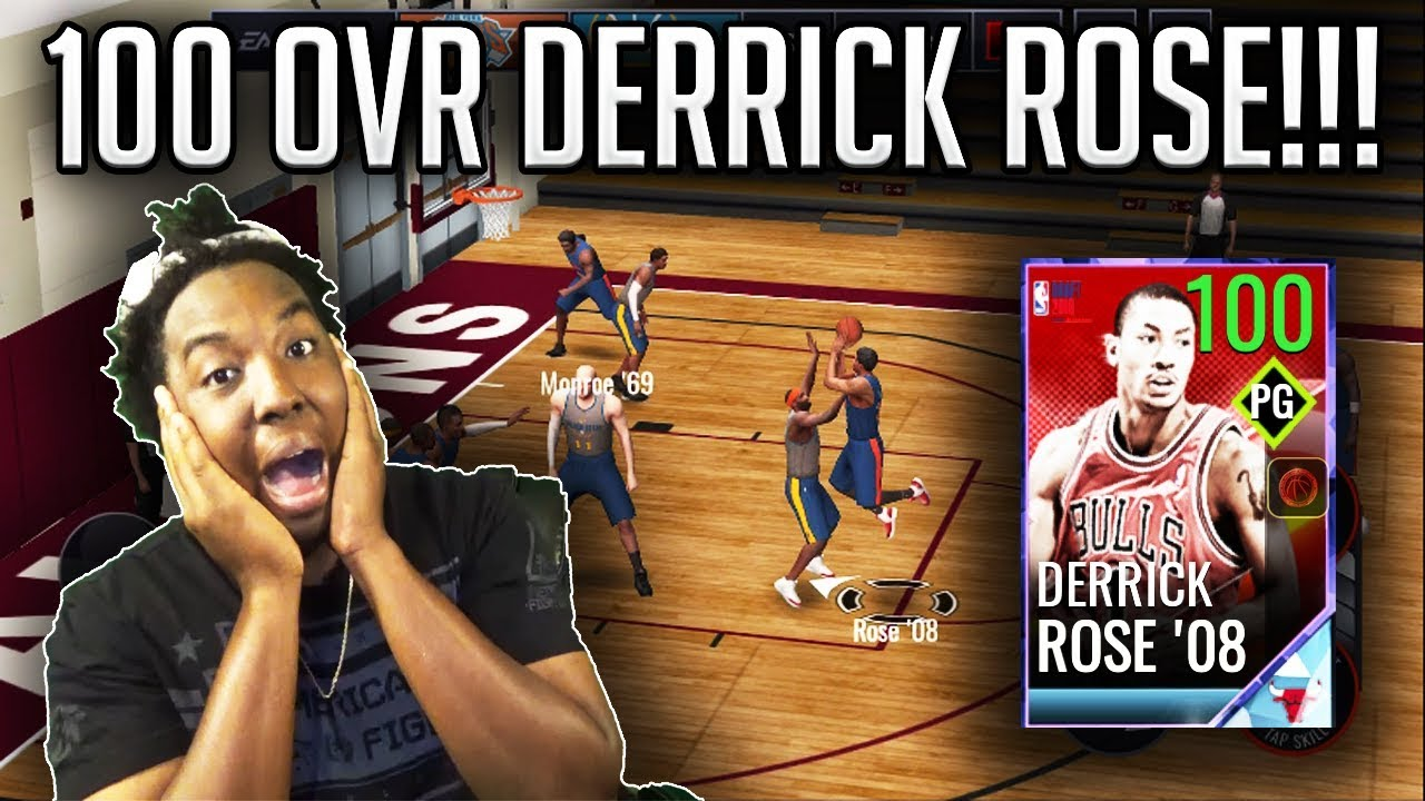 77bbbc03c92c 100 OVR  1 DRAFT PICK DERRICK ROSE GAMEPLAY!!! NBA LIVE MOBILE 18 ...