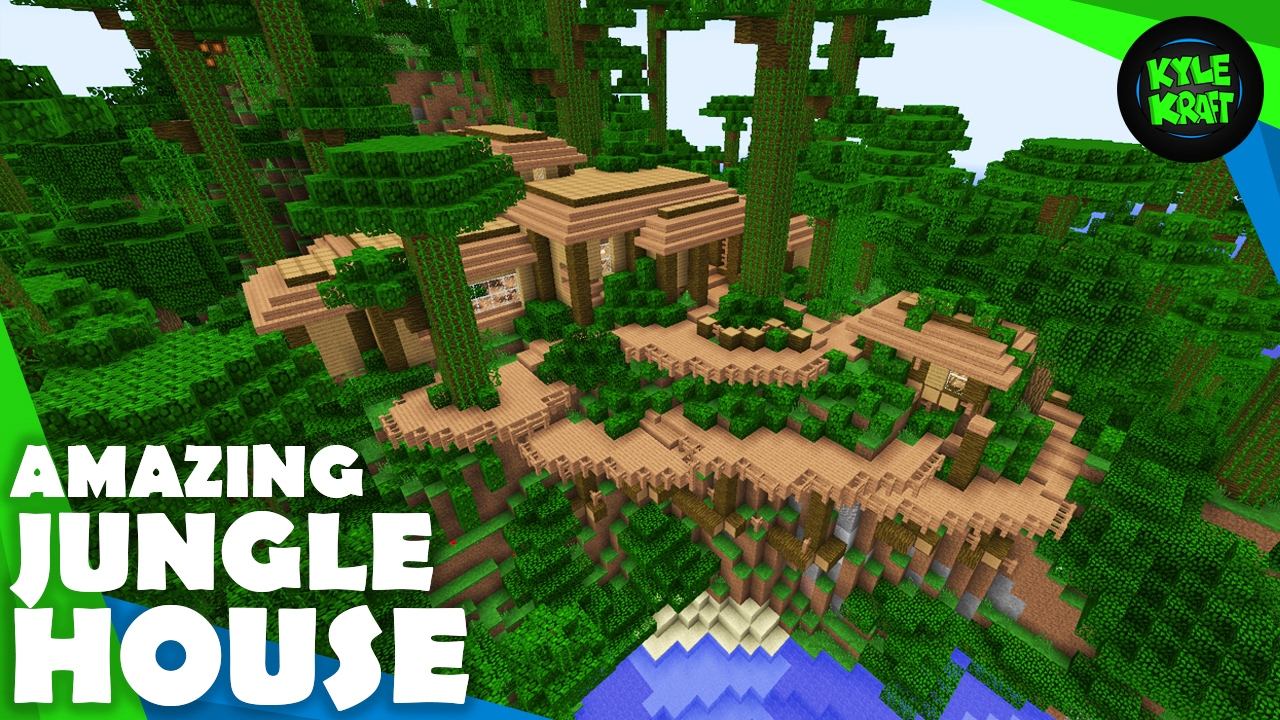 Minecraft How To Build A Jungle House Youtube