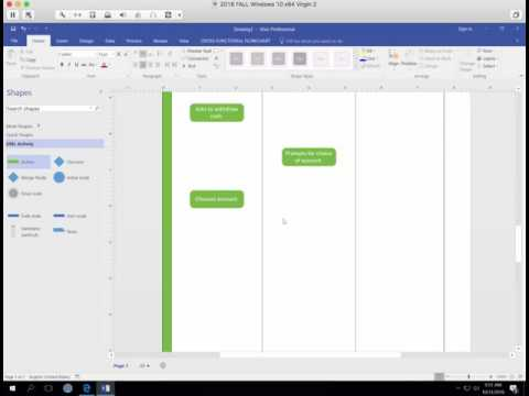 how to make activity diagram in visio
