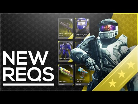 Halo 5 New Mythic & Legendary REQs! Gold REQ Pack Opening - January Update