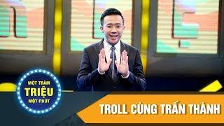 Một Trăm Triệu Một Phút | Troll cùng Trấn Thành | Hòa Minzy trở thành cặp đôi bá đạo cùng với MC