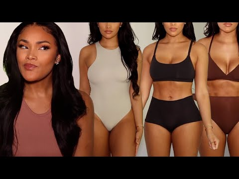 SKIMS Fits Everybody Try On Haul and Review with Allyiah's Face