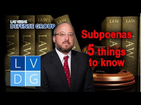 Subpoenas in Nevada Criminal Cases – 5 Key Things to Know