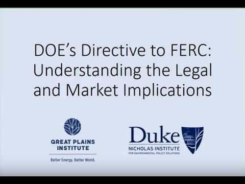 Understanding DOE's Directive to FERC on Baseload Resources